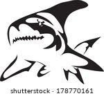 shark tattoo symbols.vector | Shutterstock .eps vector #178770161