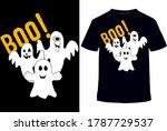boo tee.happy halloween cat t...   Shutterstock .eps vector #1787729537