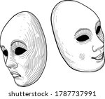 two classic theatrical comedy...   Shutterstock .eps vector #1787737991