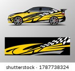 abstract stripe for racing car... | Shutterstock .eps vector #1787738324