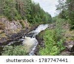 Kivach Falls Is A 10.7 M High...