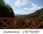 beautiful summer mountains with ... | Shutterstock . vector #1787763587