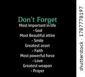 Don't Forget  Christian Faith ...