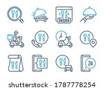 food delivery related vector...