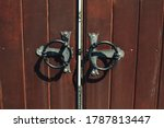 Old Wooden Gates With Forged...