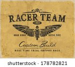 vintage race car and motorbike... | Shutterstock .eps vector #178782821