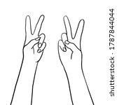 vector peace hand symbol. hand...   Shutterstock .eps vector #1787844044