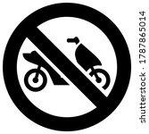 no moped forbidden sign  modern ... | Shutterstock .eps vector #1787865014
