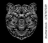 ornamental white line bear | Shutterstock .eps vector #178787039