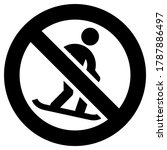 no snowboarding forbidden sign  ... | Shutterstock .eps vector #1787886497