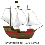 old ship vector illustration | Shutterstock .eps vector #17878915