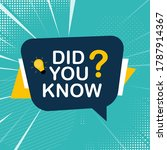 did you know sticker with... | Shutterstock .eps vector #1787914367