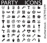 party icons | Shutterstock .eps vector #178795199
