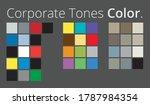 harmonic color palettes in... | Shutterstock .eps vector #1787984354