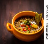 vegan red lentil and vegetable... | Shutterstock . vector #178799621