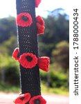 Hand Knitted Poppy Flower...