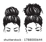 silhouette image of a woman...   Shutterstock .eps vector #1788000644