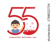 9 august   singapore national... | Shutterstock .eps vector #1788022724