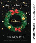 merry christmas party flyer... | Shutterstock .eps vector #1788022814