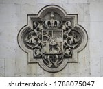 Facade detail of Field Marshals Hall in Munich, Germany