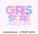 vector bright banner girls... | Shutterstock .eps vector #1788076394