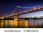 night view of lisbon and of the ... | Shutterstock . vector #178810631