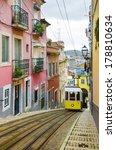 romantic lisbon street with the ...   Shutterstock . vector #178810634