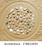 different sea shells collection ... | Shutterstock . vector #178813454