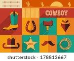 Cowboy Set Of Wild West Icons...