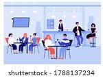 happy people meeting in pub or... | Shutterstock .eps vector #1788137234