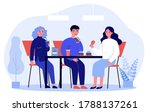 people eating fast food.... | Shutterstock .eps vector #1788137261