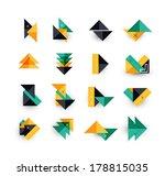 vector arrow business geometric ... | Shutterstock .eps vector #178815035