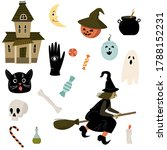 vector illustration with set of ... | Shutterstock .eps vector #1788152231