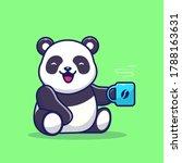 Cute Panda Holding Cup Of...