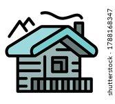 mountains cabana icon. outline... | Shutterstock .eps vector #1788168347