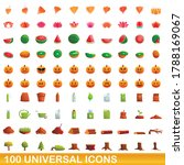100 universal icons set.... | Shutterstock .eps vector #1788169067