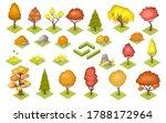 set of isolated vector autumn... | Shutterstock .eps vector #1788172964