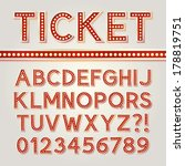 red bright broadway alphabet... | Shutterstock .eps vector #178819751