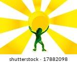 man holding a sun | Shutterstock .eps vector #17882098