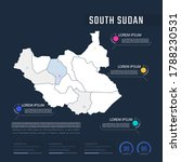 south sudan country map...   Shutterstock .eps vector #1788230531