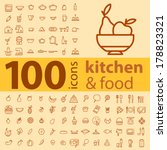 set of 100 icons of different... | Shutterstock .eps vector #178823321