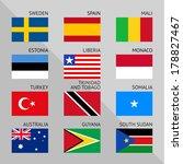 flags of world  flat vector... | Shutterstock .eps vector #178827467