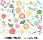 spring flower   foliage... | Shutterstock .eps vector #178827581