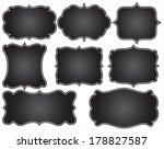 chalkboard frames | Shutterstock .eps vector #178827587