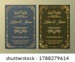 luxury vintage golden vector... | Shutterstock .eps vector #1788279614
