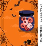 halloween scary jar with bloody ... | Shutterstock .eps vector #1788279824
