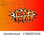 trick or treat text banner ... | Shutterstock .eps vector #1788307634