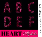 alphabet of pink hearts vector... | Shutterstock .eps vector #178831979