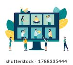 vector business graph  open... | Shutterstock .eps vector #1788335444