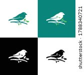 Silhouette Logo Of A Bird...